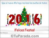 Feliz año nuevo - Tarjetas postales: Feliz año 2016