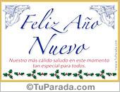 Tarjetas postales: Tarjeta de feliz año con ángeles