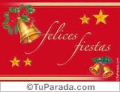 Felices fiestas con campanas