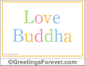 Greeting ecards: Love Buddha