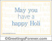 Greeting ecards: Have a Happy Holi
