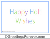 Greeting ecards: Happy Holi wishes