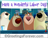 Greeting ecards: Happy Labor Day ecard