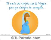 Tarjetas postales: Tarjeta con la Virgen