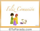 Tarjetas, postales: Comunión