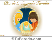 Tarjeta - Día de la Sagrada familia