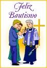 Feliz Bautismo con sacerdote