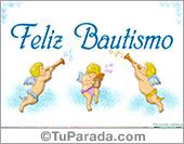 Tarjetas postales: Feliz Bautismo.