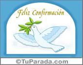 Tarjetas postales: Feliz Confirmación con paloma