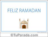 Tarjetas postales: Tarjeta de religión Islámica