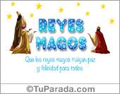 Tarjetas postales: Tarjeta de los Reyes Magos
