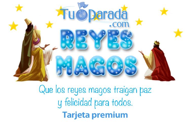 Tarjeta - Tarjeta de los Reyes Magos