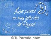 Tarjetas postales: Muy feliz día de Reyes