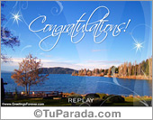 Greeting ecards: Congratulations