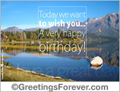 Birthday landscape greeting