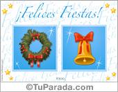 Tarjeta - Postal de Navidad tradicional