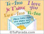 I love you en varios idiomas