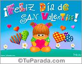 Tarjeta de San Valentín alegre
