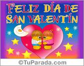Día de San Valentín con corazones