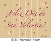 Feliz Día de San Valentín con guarda y flores