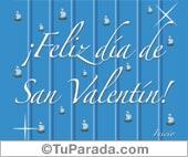 Feliz Día de San Valentín en azul