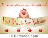 San Valentín - Tarjetas postales: San Valentín con oso divertido