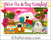 Feliz Día de San Valentín en grupo