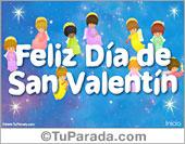 Tarjetas postales: Tarjeta con ángeles del Día de San Valentín