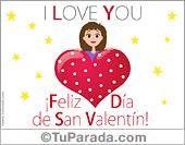 San Valentín - Tarjetas postales: Tarjeta del día de San Valentín