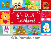 San Valentín - Tarjetas postales: Tarjeta de San Valentín con imágenes