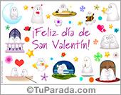 Feliz día de San Valentín, tarjeta para el día de los enamorados.