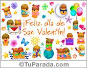 San Valentín - Tarjetas postales: Tarjeta de San Valentín con Los Gordis