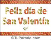 Tarjeta con diseño decorativo para desear un muy feliz día de San Valentín.