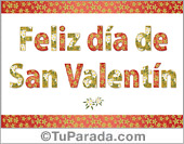 San Valentín - Tarjetas postales: Saludo de San Valentín decorado