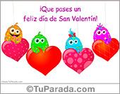 Para enviar felicidades en el día de San Valentín, tarjeta animada para todos.