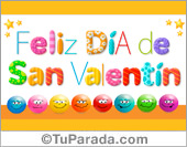 Tarjeta de San Valentín para amigas y amigos.