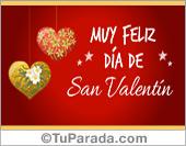 Tarjeta de San Valentín especial para familiares, amigas y amigos .
