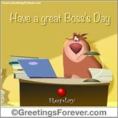 Boss's day ecard