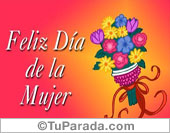 Feliz día de la mujer multicolor