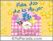 Día de la Mujer - Tarjetas postales: Feliz día de la mujer con sobre