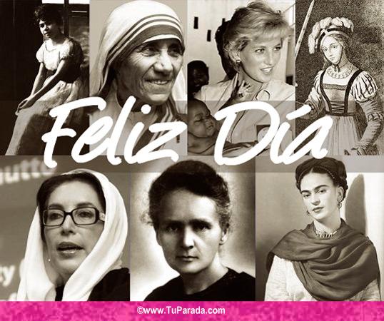 Tarjeta - Tarjeta homenaje Día de la Mujer