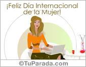 Día de la Mujer - Tarjetas postales: Feliz Día de la Mujer