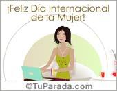 Tarjeta - Postal para el Día Internacional de la Mujer