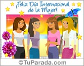 Día de la Mujer - Tarjetas postales: Tarjeta de Feliz Día de la Mujer