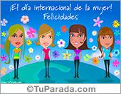 Tarjetas, postales: Tarjeta del día de la mujer internacional