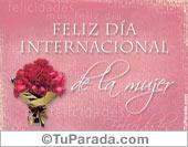 Feliz día internacional de la mujer.