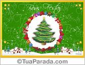 Cartões postais: Cartão de Natal tradicional