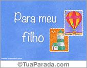 Cartões postais: Para os filhos