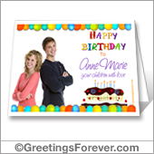 Birthday printable photo card - For desktop