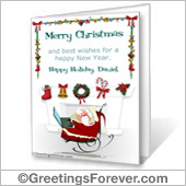 Christmas printable card - For Desktop